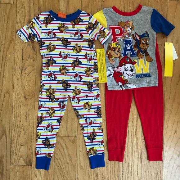 7557d86137 NWT Paw Patrol 4 Piece Pajama Set